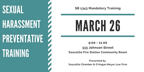 Sexual Harassment Preventative Training  SB 1343 tickets