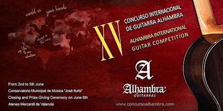 Ceremonia de clausura y entrega de premios del XV Concurso Alhambra 2020 tickets