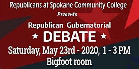 Republican Gubernatorial Debate tickets