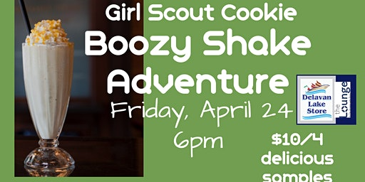Girl Scout Cookie Boozy Shake Adventure