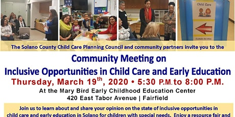 Community Forum: Inclusive Opportunities in Child Care and Early Education tickets