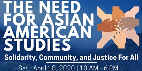 """""""The Need for Asian American Studies"""" Conference tickets"""