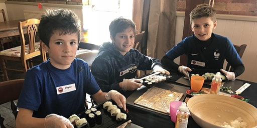 Sushi-making workshop for kids age 6+