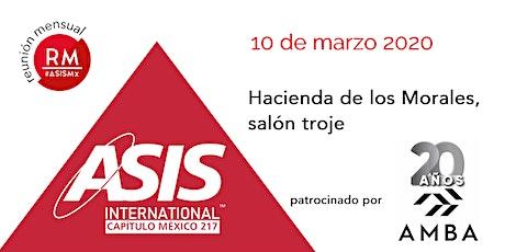 Reunión Mensual Marzo 10 2020 boletos