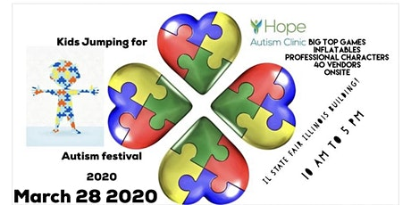 Kids jumping for Autism Festival tickets