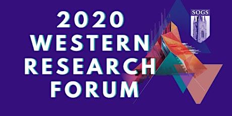 Western Research Forum 2020 tickets