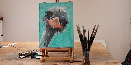 'Ostrich' Painting  workshop & Afternoon Tea @Sunnybank - All abilities tickets