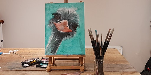 'Ostrich' Painting  workshop & Afternoon Tea @Sunnybank - All abilities