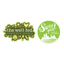 Sweet Peas Urban Gardens in collaboration with The Well Fed Garden logo
