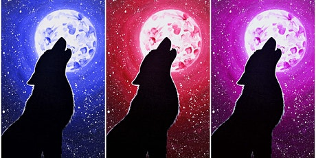 """Open Paint (8yrs+) """"Howl"""" Select your own color (Adult) tickets"""