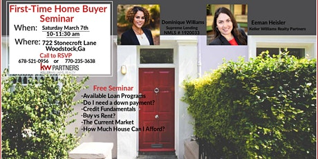 FREE First-Time Home Buyer Seminar tickets