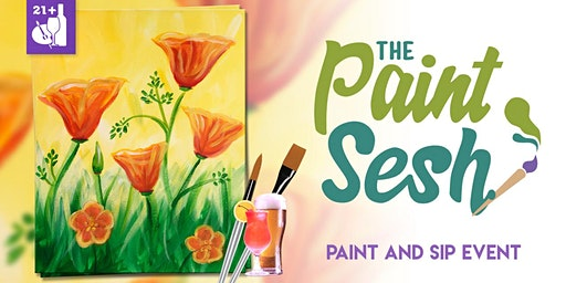 """Paint and Sip in Norco, CA – """"California Poppies"""""""