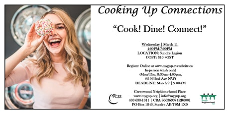 COOKING UP CONNECTIONS - 'Cook! Dine! Connect!' tickets