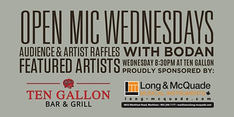 Open Mic Wednesdays at Ten Gallon Bar & Grill tickets