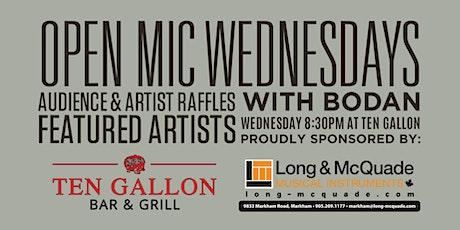 Open Mic Wednesdays at Ten Gallon Bar & Grill tickets