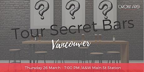Tour Secret Bars tickets