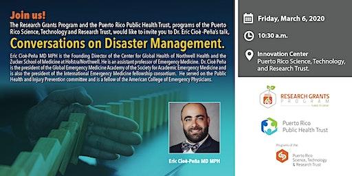 Dialogue on Disaster Management with Dr. Eric Cioè -Peña