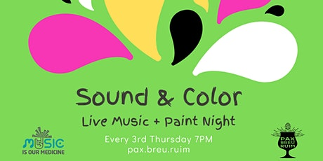 Sound & Color: Live Music & Paint Night tickets