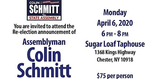 Assemblyman Colin Schmitt re-election announcement fundraiser