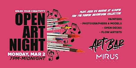 Open Art Night at Mirus Art Bar tickets