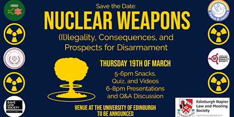 Nuclear Weapons - (Il)legality, Consequences, and Prospects for Disarmament tickets