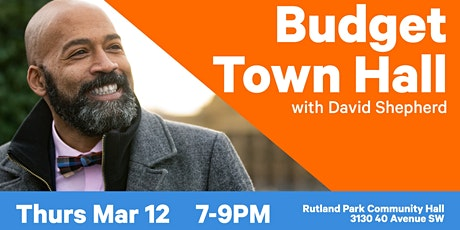 Provincial Budget Town Hall with David Shepherd tickets