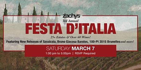 Zachys' Third Annual Festa D'Italia tickets