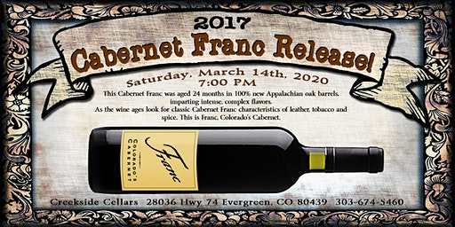 Cabernet Franc Release Party!
