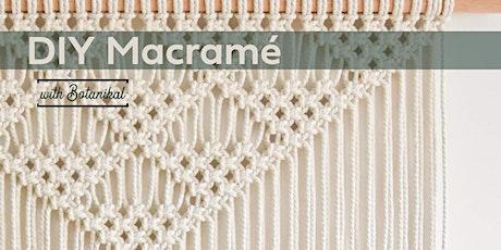 DIY Macramé with Botanikal tickets