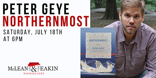 Author Event with Peter Geye