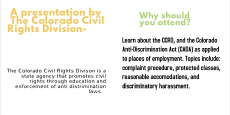 Colorado Anti Discrimination Act (CADA) tickets