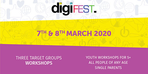 DigiFest - Youth workshops for 5+ 10am-12pm