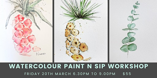 Paint and Sip with Watercolours