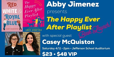 Abby Jimenez launches The Happy Ever After Playlist, with Casey McQuiston tickets