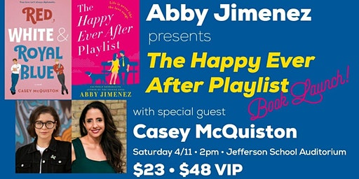 Abby Jimenez launches The Happy Ever After Playlist, with Casey McQuiston