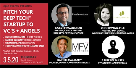 Pitch Your Deep Tech Startup to Investor Panel of VCs and Angels tickets