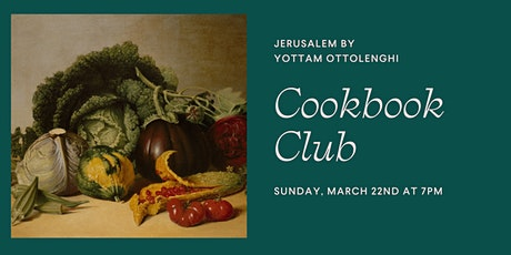 Cookbook Club: Yottam Ottolenghi's Jerusalem tickets