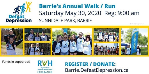 Barrie's Annual Defeat Depression Walk/Run for Mental Health!