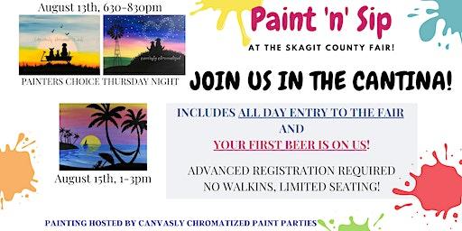 Paint 'n' Sip @ the Skagit County Fair