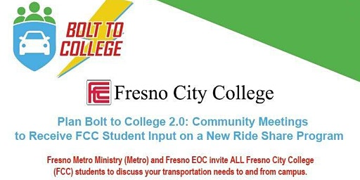 Plan Bolt to College 2.0: Community Meeting on New Ride Share Program