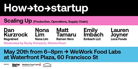 Startup CPG: Scaling Up (Production, Ops, Supply Chain) tickets