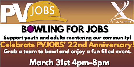 PVJOBS' Bowling For Jobs tickets