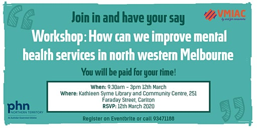 How can we improve mental health services in north western Melbourne?