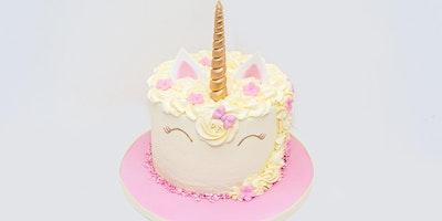£40 – UNICORN Cake Decorating Demonstration