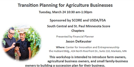 Transition Planning for Agriculture Businesses