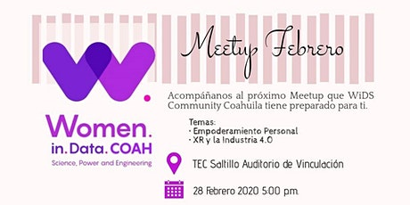 Meetup WiDS Community Coahuila Febrero boletos