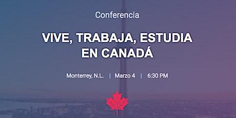 VIVE, TRABAJA, ESTUDIA EN CANADÁ boletos