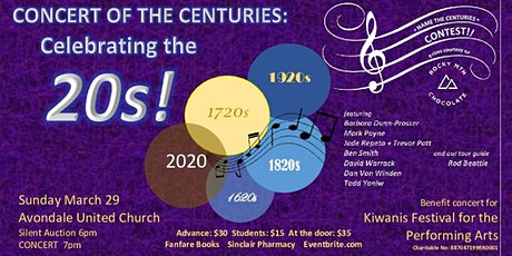CONCERT OF THE CENTURIES: Celebrating the 20s!! tickets