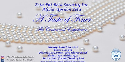 Zeta Phi Beta Sorority, Inc., Alpha Upsilon Zeta Chapter 2020 Finer Womanhood Celebration