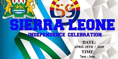 FEDSLAZ Sierra Leone's 59th Independence Anniversary tickets